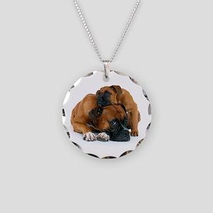 Boxer 3 Necklace Circle Charm