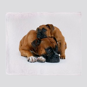 Boxer 3 Throw Blanket