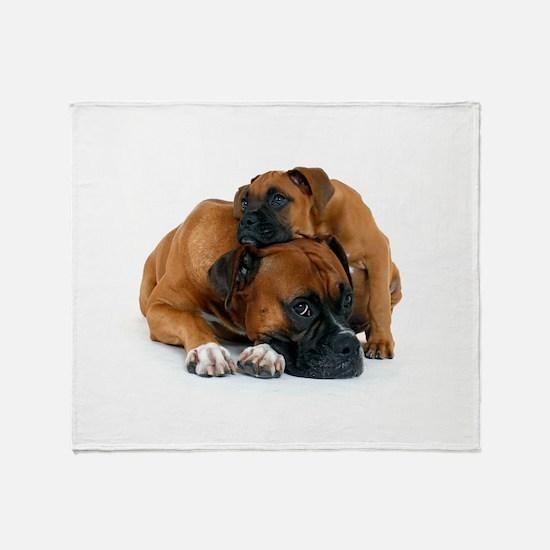Boxer 3 Throw Blanket