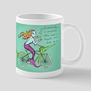 Mermaid on a Bicycle Mug