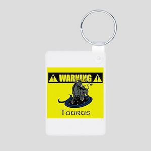 Warning: Taurus Aluminum Photo Keychain