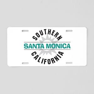 Santa Monica California Aluminum License Plate