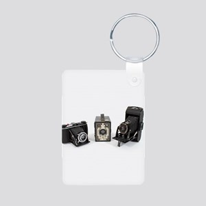 Retro Cameras Aluminum Photo Keychain