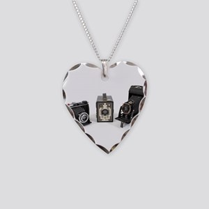 Retro Cameras Necklace Heart Charm