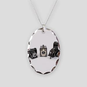 Retro Cameras Necklace Oval Charm