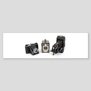 Retro Cameras Sticker (Bumper)