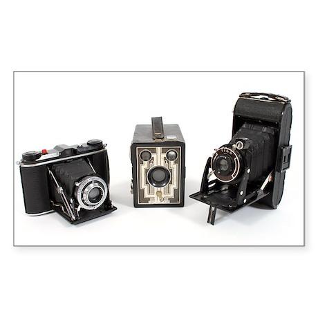 Retro Cameras Sticker (Rectangle)