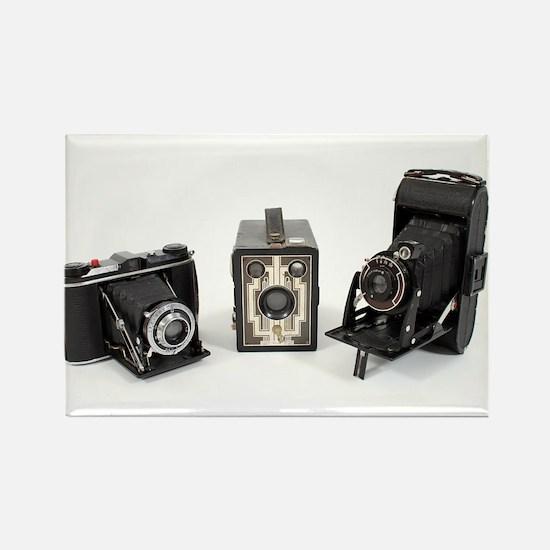 Retro Cameras Rectangle Magnet