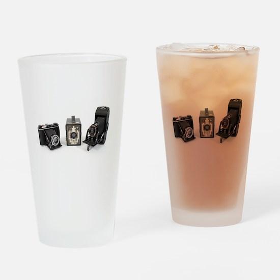 Retro Cameras Drinking Glass