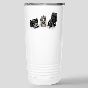 Retro Cameras Stainless Steel Travel Mug