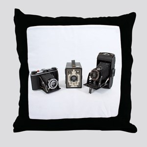 Retro Cameras Throw Pillow