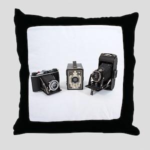 Retro Cameras Throw Pillow