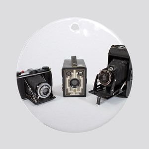 Retro Cameras Ornament (Round)