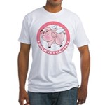 Inspirational Flying Pig Fitted T-Shirt