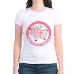 Inspirational Flying Pig Jr. Ringer T-Shirt