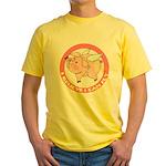 Inspirational Flying Pig Yellow T-Shirt