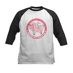 Inspirational Flying Pig Kids Baseball Jersey