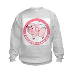 Inspirational Flying Pig Kids Sweatshirt