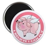 Inspirational Flying Pig Magnet