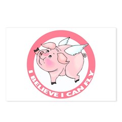 Inspirational Flying Pig Postcards (Package of 8)