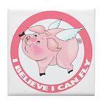 Inspirational Flying Pig Tile Coaster