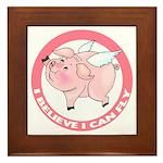 Inspirational Flying Pig Framed Tile