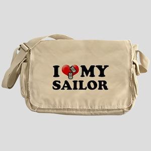 I (heart) my Sailor Messenger Bag