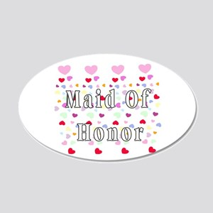 Maid Of Honor Hearts 22x14 Oval Wall Peel