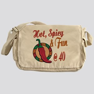 Hot N Spicy 40th Messenger Bag