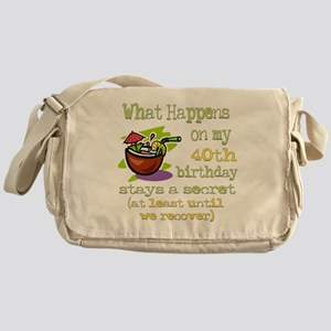 What Happens 40th Messenger Bag