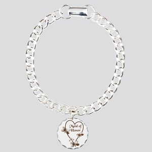 Maid Of Honor Heart And Butte Charm Bracelet, One