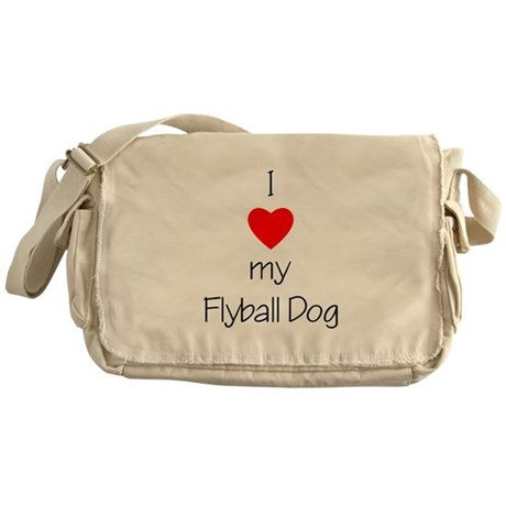 I Love My Flyball Dog Messenger Bag