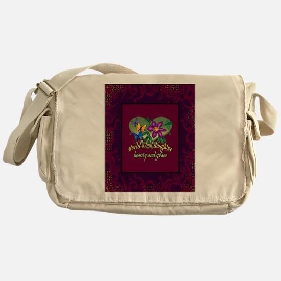 Beautiful Daughter Messenger Bag