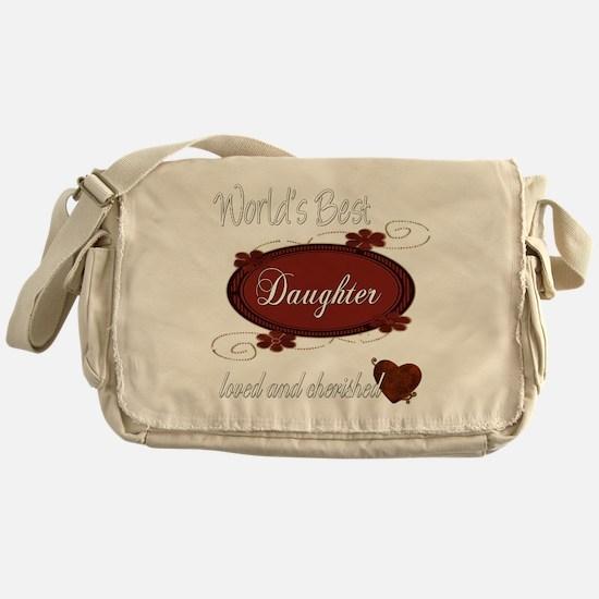 Cherished Daughter Messenger Bag