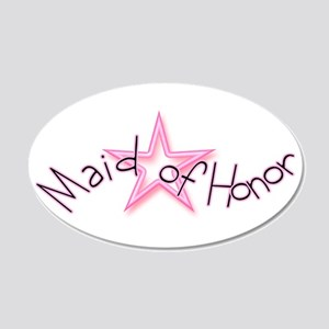 Maid Of Honor Pink Star 22x14 Oval Wall Peel