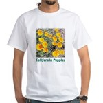 California Poppies t-shirt--white