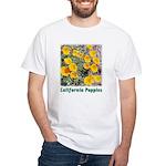 California Poppies t-shirt--white
