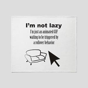 Animated GIF Throw Blanket