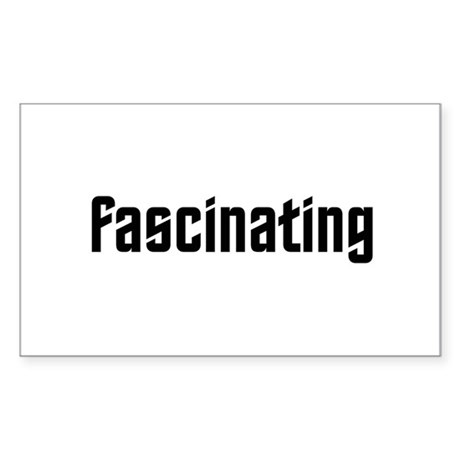 Fascinating Sticker (Rectangle 10 pk)