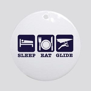 Sleep Eat Hang Glide Ornament (Round)