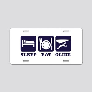 Sleep Eat Hang Glide Aluminum License Plate
