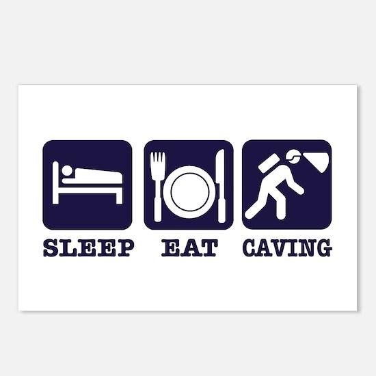 Sleep Eat Caving Postcards (Package of 8)