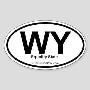 Wyoming Oval Sticker