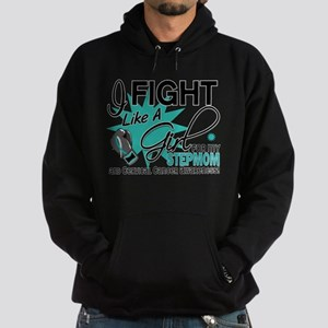 Fight Like A Girl For My Cervical Cancer Hoodie (d