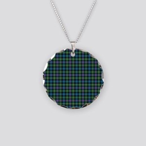 Tartan-MacLeodSkye Necklace Circle Charm