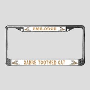 Smilodon Den License Plate Frame