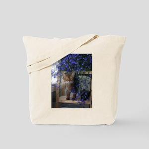 Flower Cat Tote Bag