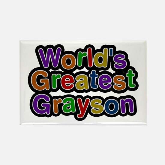 World's Greatest Grayson Rectangle Magnet