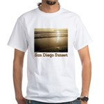 San Diego Sunset t-shirt--white