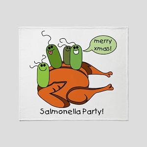 Salmonella Party Throw Blanket